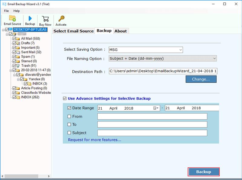 Rackspace Webmail Backup Software to Export Rackspace Email