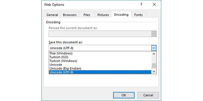 How to Create/Export UTF-8 CSV File from an Excel Spreadsheet?