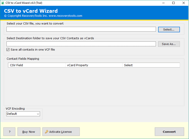 CSV to vCard Converter - Export Outlook & Excel CSV to VCF