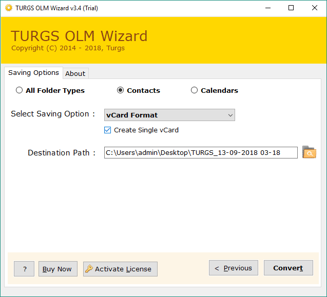 OLM to vCard (VCF) Converter – How to Export OLM Contacts to