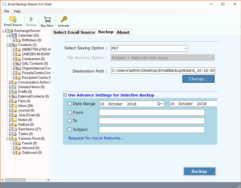 Exchange to PST Export Tool – Backup/Export Exchange to Outlook PST