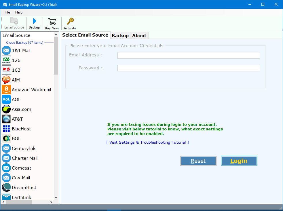 AOL Backup Tool – Migrate/Transfer AOL Mail to Gmail, Outlook, Yahoo