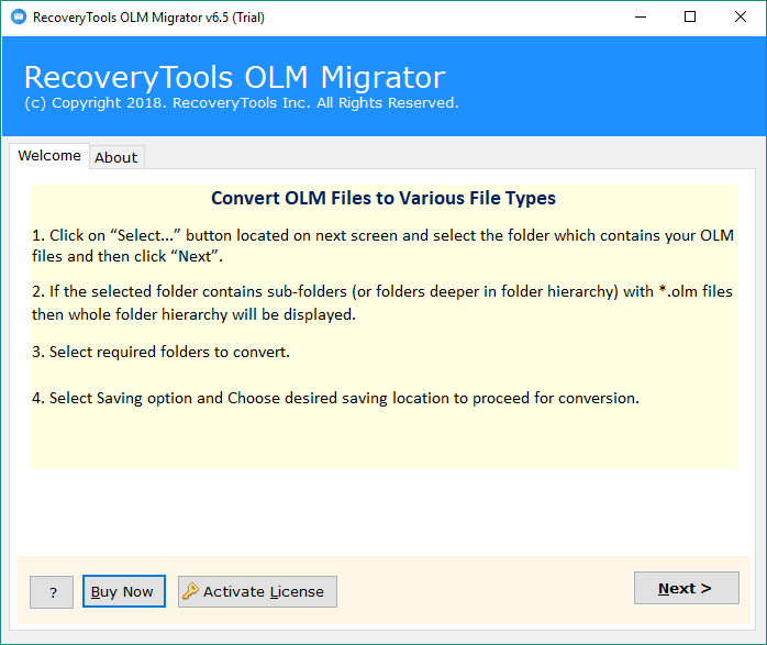 Import OLM to Exchange, Hosted & Online - OLM to Exchange