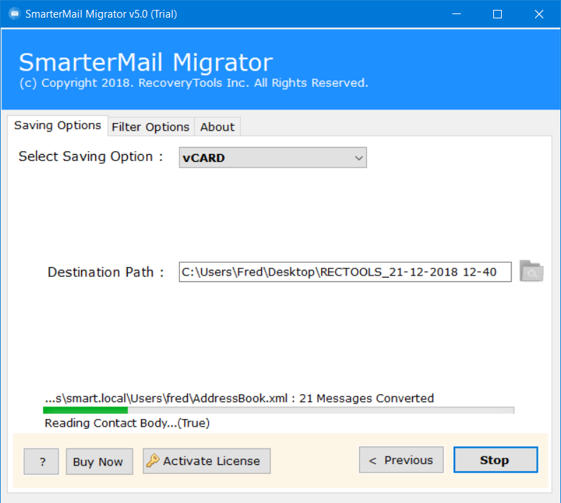 SmarterMail to vCard Software – How to Export Contacts from