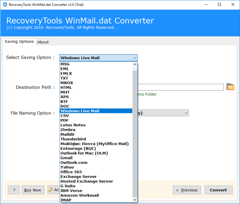 Convert Winmail dat to Windows Live Mail – TNEF to WLM