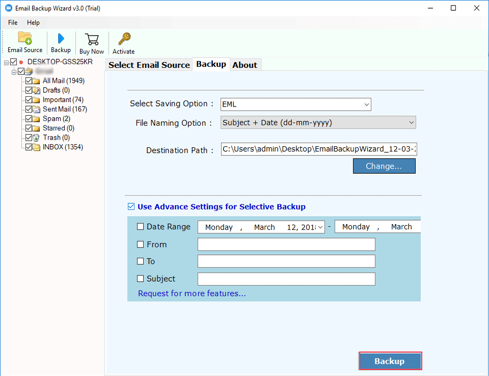 Amazon WorkMail Backup Software to Migrate Amazon WorkMail Email