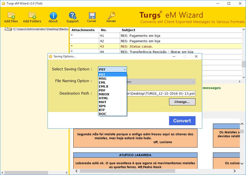 eM Client Converter screenshot