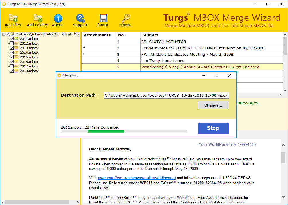 Merge Multiple MBOX Files into Single One