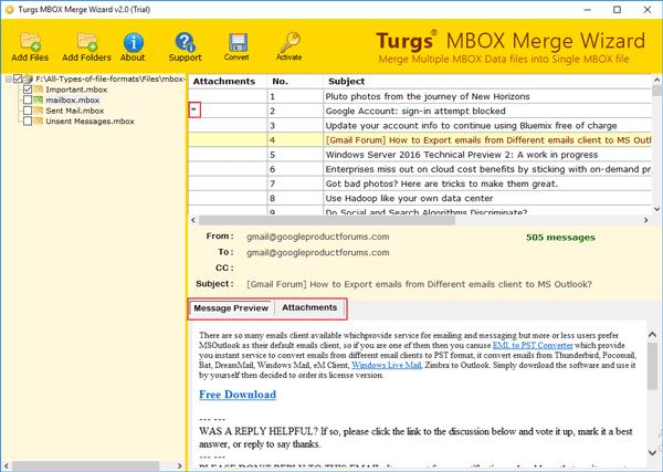 Turgs MBOX Merge Wizard Wizard