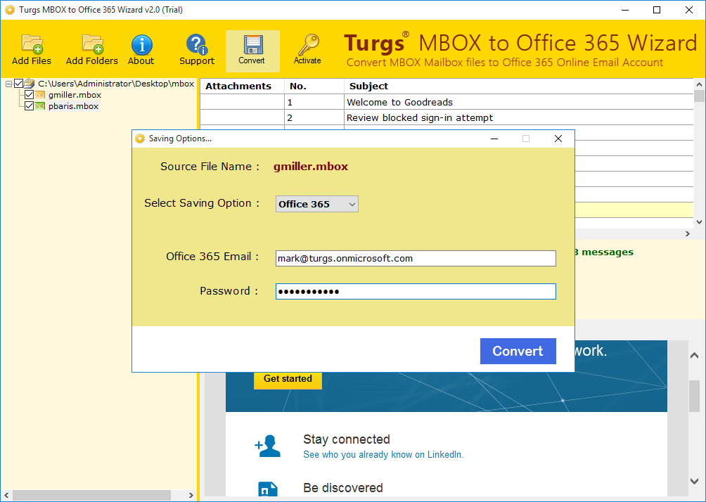 MBOX to Office 365 Wizard 2.0 full