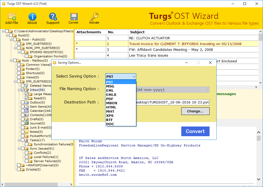 Turgs OST Wizard screenshot