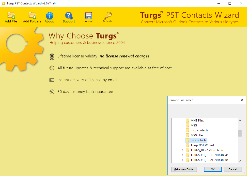 Turgs PST Contacts Converter