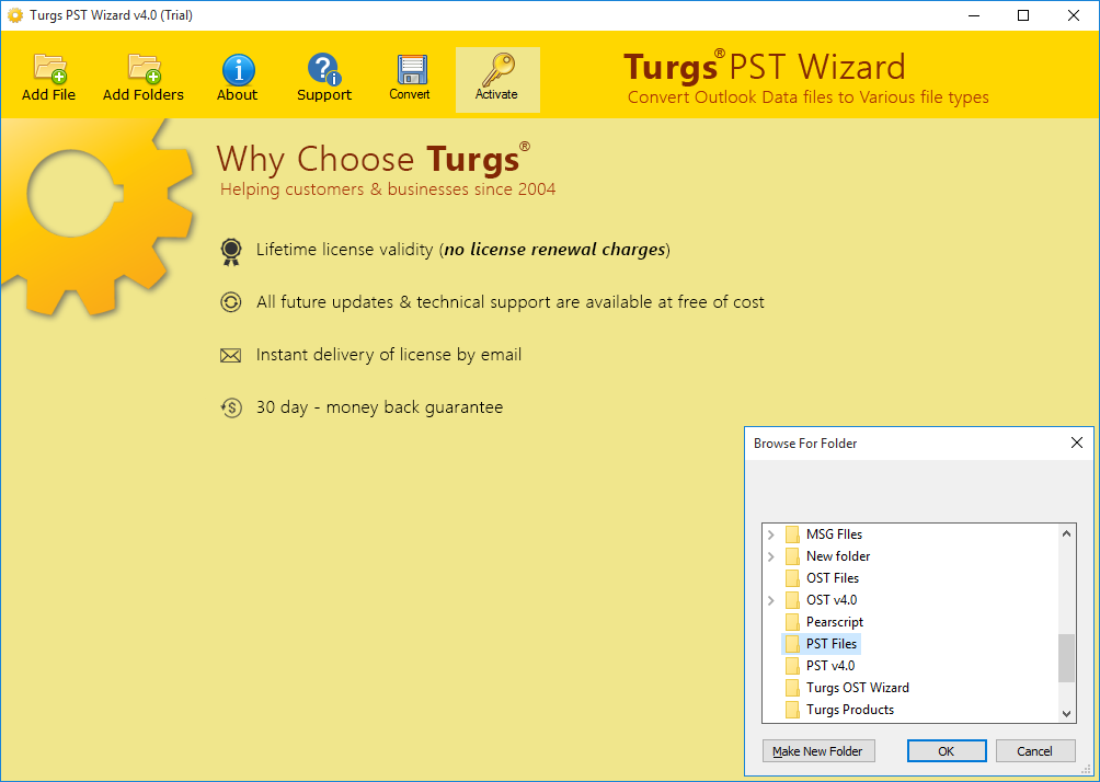 Run Tool and Select Single or Multiple PST File