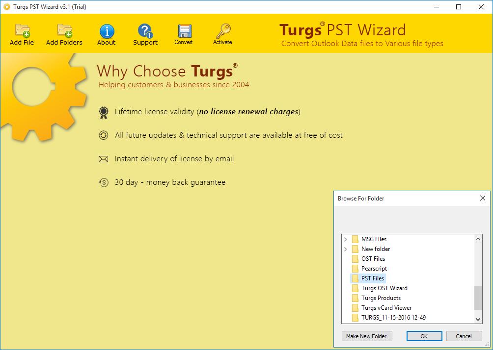 Turgs PST to Zimbra Wizard