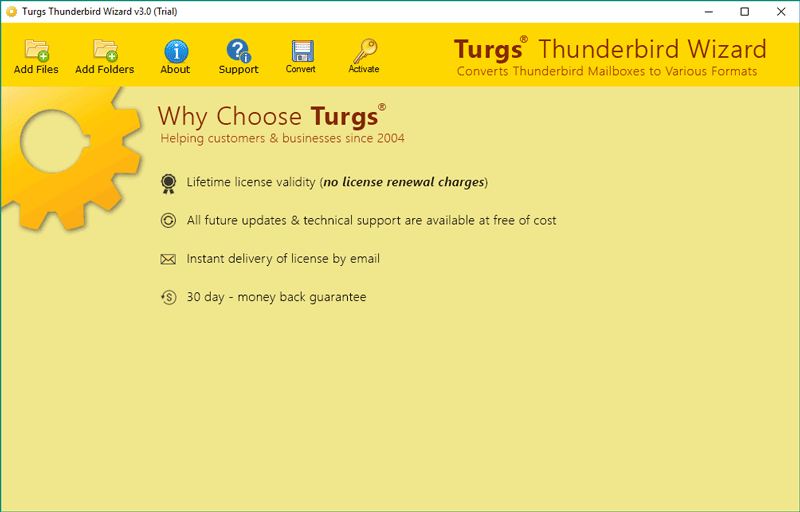 Turgs Thunderbird Converter