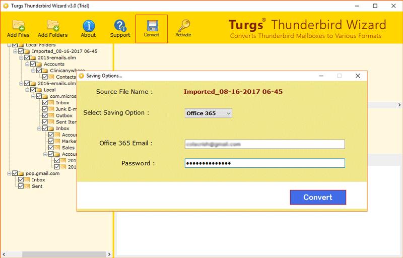 Turgs Thunderbird to Office 365 Wizard
