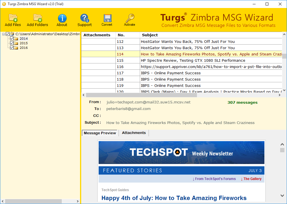 Zimbra MSG File Preview